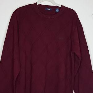 IZOD Burgundy City Men's Sweater-L